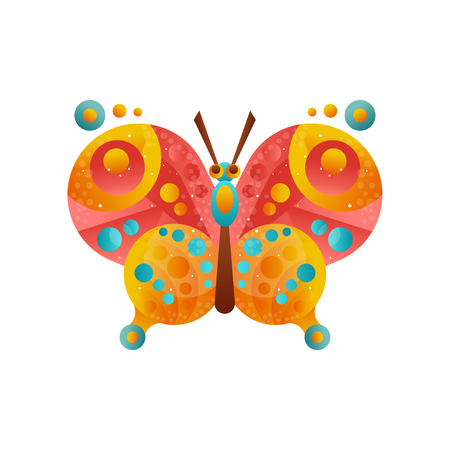 Vector de insectos mariposa colorida ilustración sobre un fondo blanco