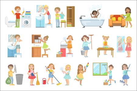 Conjunto de iconos simplificados coloridos de caramelo duro Ilustración de vector