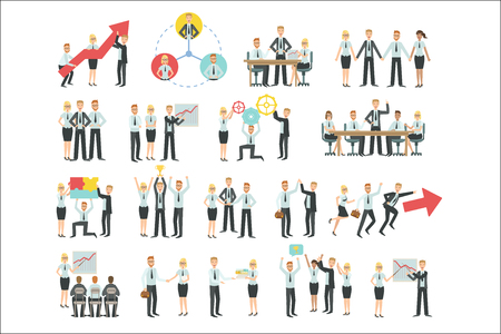 Business Team Working Together Achievement Process Infographic