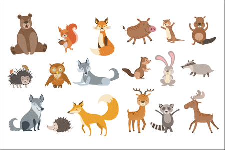 Forest Animals Set Ilustracja