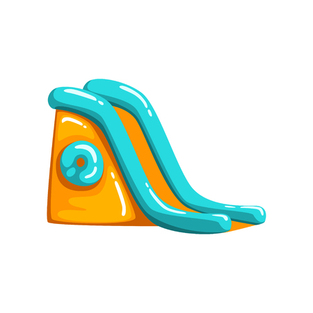 Inflatable slide, amusement park bouncy equipment vector Illustrations on a white background