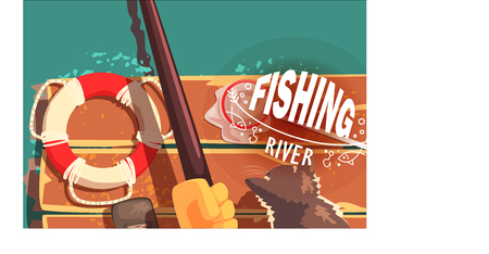 Fishing Illustrations With Only Hands Visible Stok Fotoğraf - 104333410