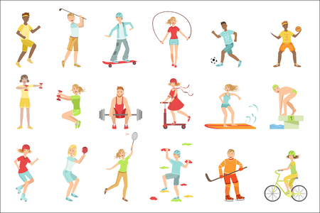 People Enjoying Physical Activities Illustrations Illustration