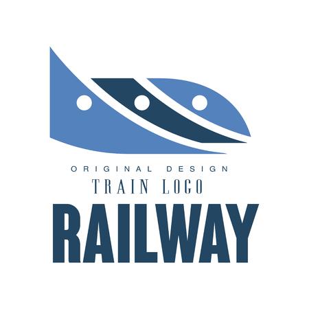 Railway train  original design, railroad transport badge vector Illustration