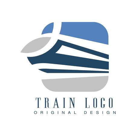 Train  original design, railway transport emblem vector Illustration Illustration