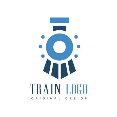 Train original design, railway transport badge vector Illustration