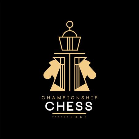 Chess championship  design element for tournament, sports club, business card vector Illustration Illustration