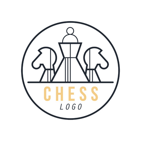 Chess  design element for tournament, sports club, business card vector Illustration