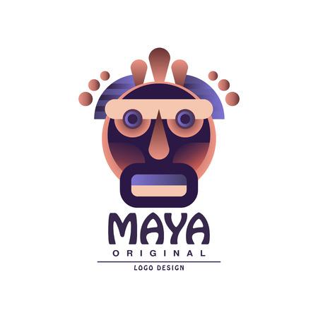 Maya original design, ethnic emblem, Aztec sign vector Illustration on a white background Illustration