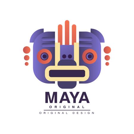 Maya original design, American indian tribal sign vector Illustration on a white background