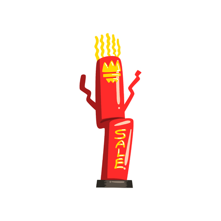 Inflatable dancing tube for sales and advertising vector Illustrations on a white background Illusztráció