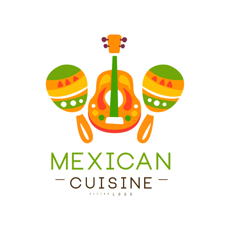 Mexican cuisine design, authentic traditional continental food label can be used for shop, farmers market, cafe, bar, restaurant, menu vector Illustration