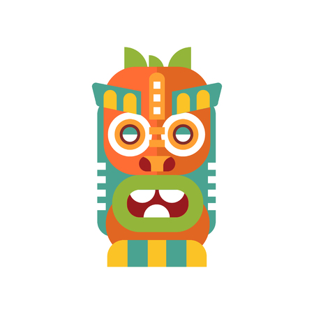 Colorful tribal facial mask vector Illustration on a white background