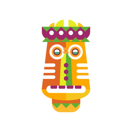 Colorful ethnic facial mask vector Illustration on a white background