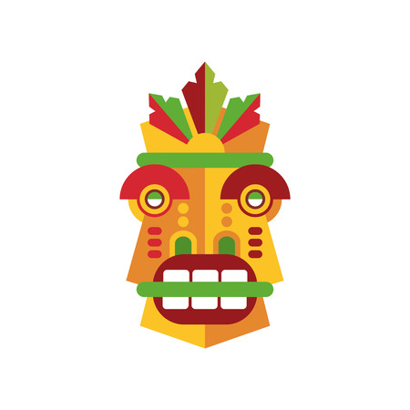 Colorful aborigine facial mask vector Illustration on a white background Stock Illustratie