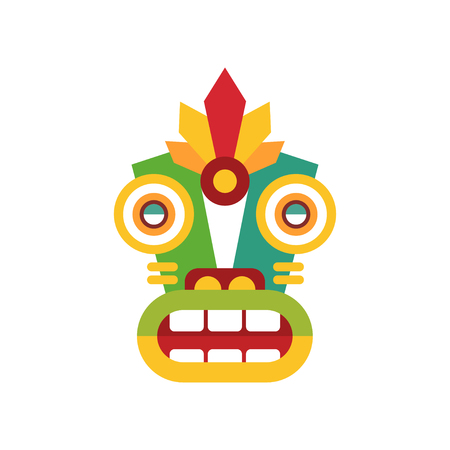 Traditional colorul ethnic facial mask vector Illustration on a white background Illustration