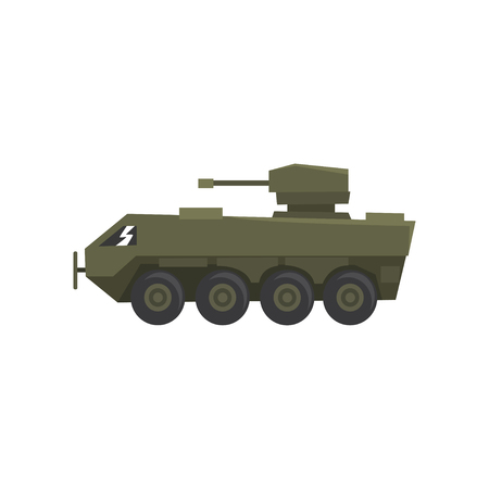Armored infantry vehicle, army machine, heavy, special transport vector Illustration on a white background
