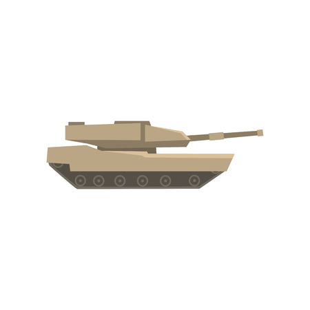 Military tank, army machine, heavy, special transport vector Illustration on a white background