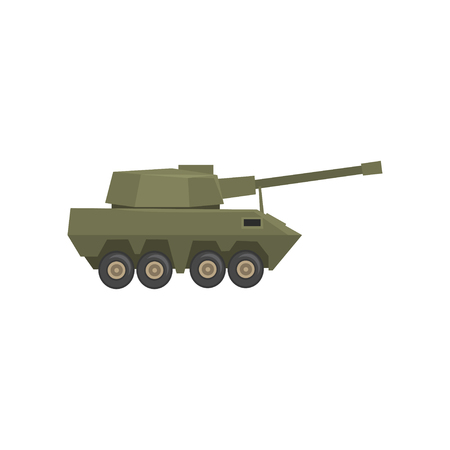 Armored army machine, heavy, special transport vector Illustration on a white background Illusztráció