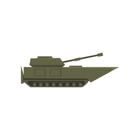 Military armored tank, army vehicle, heavy, special transport vector Illustration on a white background Ilustração