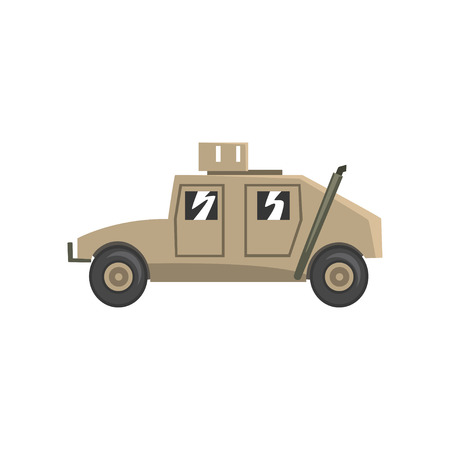Military vehicle, army machine, heavy, special transport vector Illustration on a white background