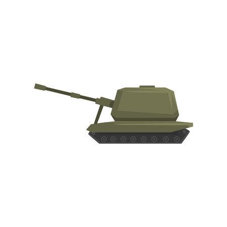 Tank, army machine, heavy, special transport vector Illustration on a white background