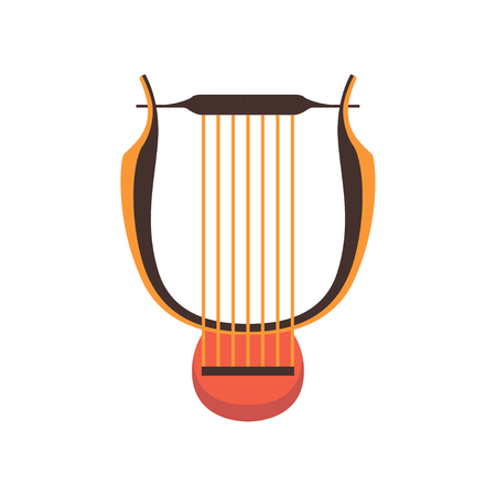 Ancient lyre musical instrument vector Illustration on a white background