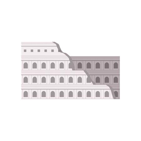 Coliseo Romano. Roma, Italia vector edificio ilustración sobre un fondo blanco