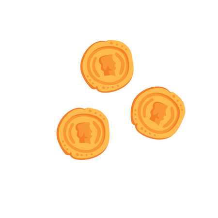 Ancient Roman gold coins vector Illustration on a white background