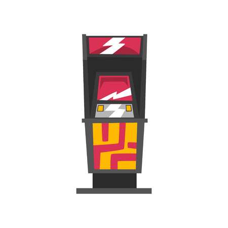 Modern slot machine vector Illustration on a white background  イラスト・ベクター素材