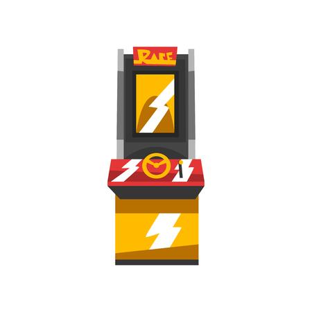 Electronic slot machine vector Illustration isolated on a white background
