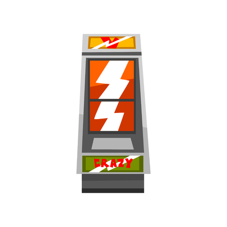 Crazy slot machine vector Illustration on a white background Ilustração