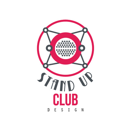 Stand up club design vector Illustration on a white background