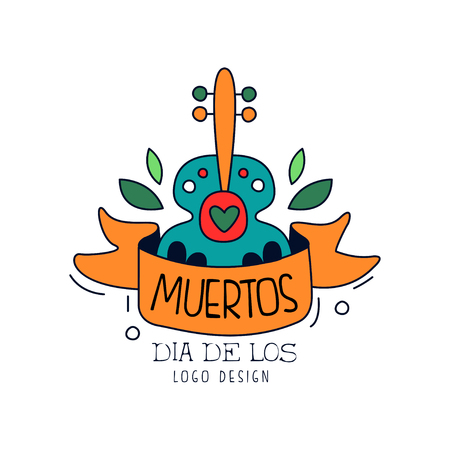 Dia De Los Muertos design, Mexican Day of the Dead, holiday party decoration banner, greeting card hand drawn vector Illustration