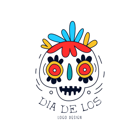 Dia De Los, Mexican Day of the Dead holiday poster with sugar skull and maracas, party banner, poster, greeting card or invitation hand drawn vector Illustration