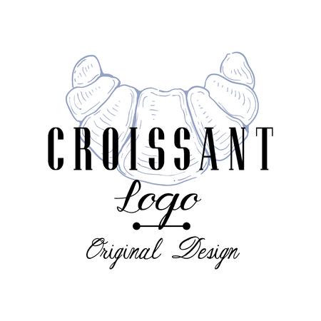 Croissant original design, retro emblem for bakery shop, cafe, restaurant, cooking business, brand identity vector Illustration on a white background Stockfoto - 103697940