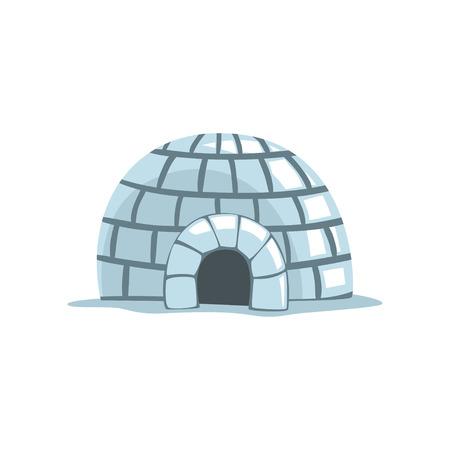 Iglu, Eskimo-Hausvektorillustration auf einem weißen Hintergrund