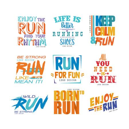 Inspirational And Motivational Slogans Set Design Element For Extraordinary Motivational Slogans