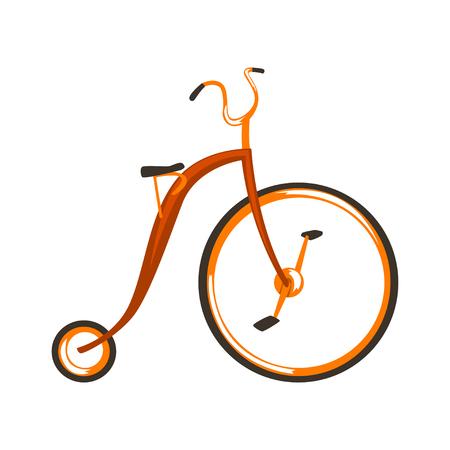 Ilustración de vector de bicicleta de bicicleta de grunge aislado en un fondo blanco . Foto de archivo - 104023787