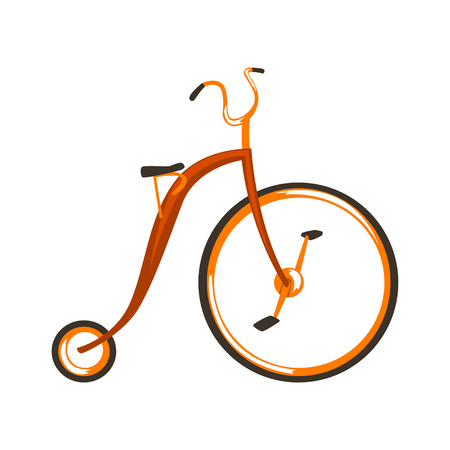 Steampunk vintage bicycle vector Illustration isolated on a white background.