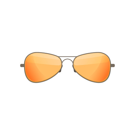 Aviator sunglasses with tinted orange lenses. Stylish accessory. Protective eyewear. Flat vector design Stock fotó - 104318147