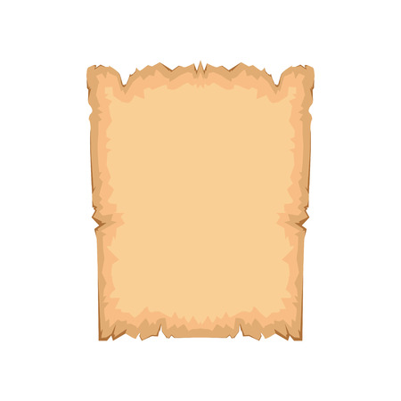 Ancient paper with space for text vector Illustration isolated on a white background. Illustration