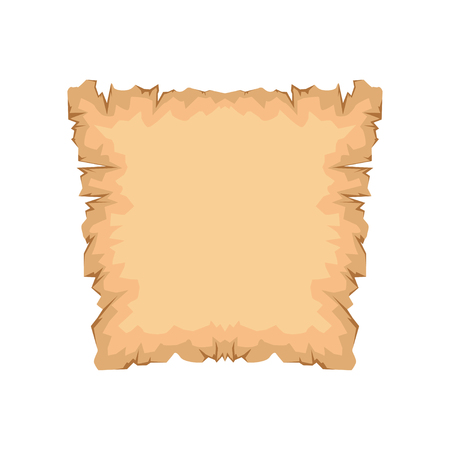 Ancient paper, papyrus with space for text vector Illustration isolated on a white background.
