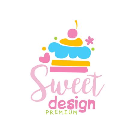 Sweets premium   design, label for confectionery, candy shop, restaurant, bar, cafe, menu, sweet store vector Illustration on a white background Illustration