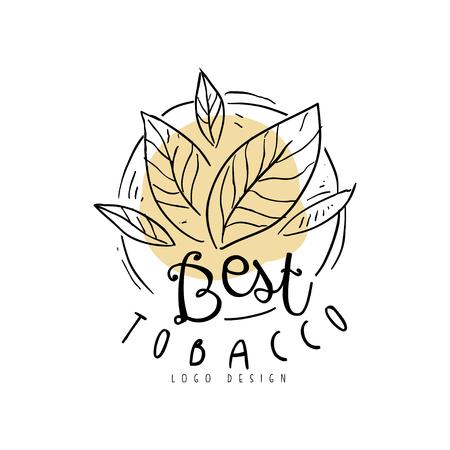 Miglior elemento di design disegnato a mano di tabacco può essere utilizzato per negozio di fumo, club per gentiluomini e prodotti del tabacco vettoriale illustrazione