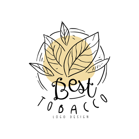 Best tobacco   hand drawn design element can be used for smoke shop, gentlemen club and tobacco products vector Illustration