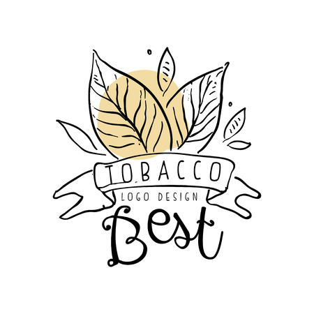 Tobacco best  design, emblem can be used for smoke shop, gentlemen club and tobacco products hand drawn vector Illustration Ilustrace