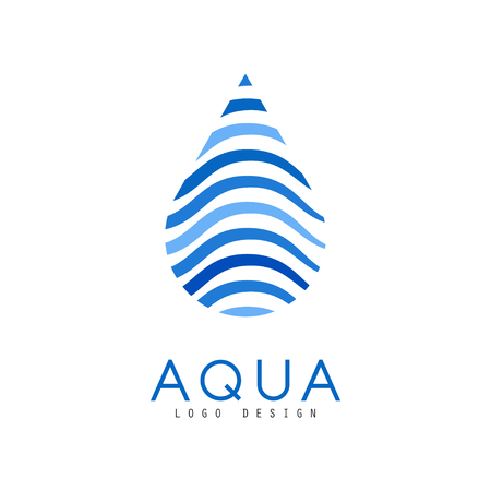 Aqua  design, corporate identity template with water drop, ecology element for poster, banner, card, presentation vector Illustration