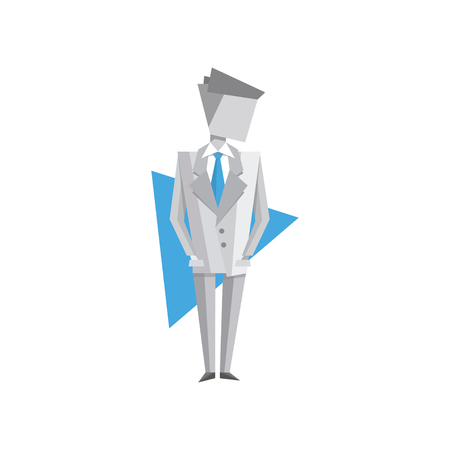 Businessman standing vector Illustration on a white background