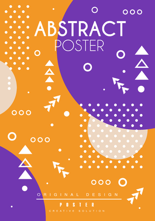 Abstract poster original design, creative placard template, trendy bright background for banner, invitation, flyer, cover, brochure vector Illustration, web design Illustration